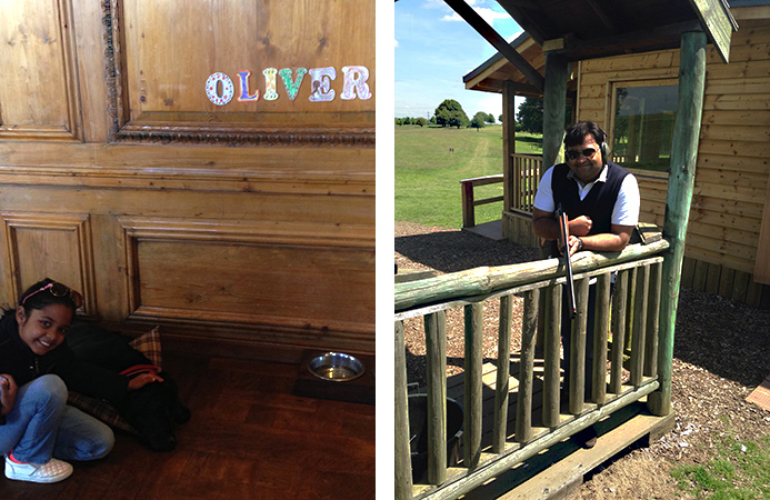 Some Oliver and a spot of clay shooting, what?