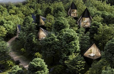 Luxury meets treehouse in West Virginia